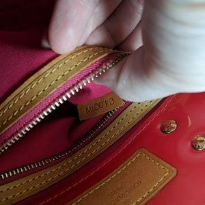 Louis Vuitton Bags - Louis Vuitton Red Vernis Small Hand Bag